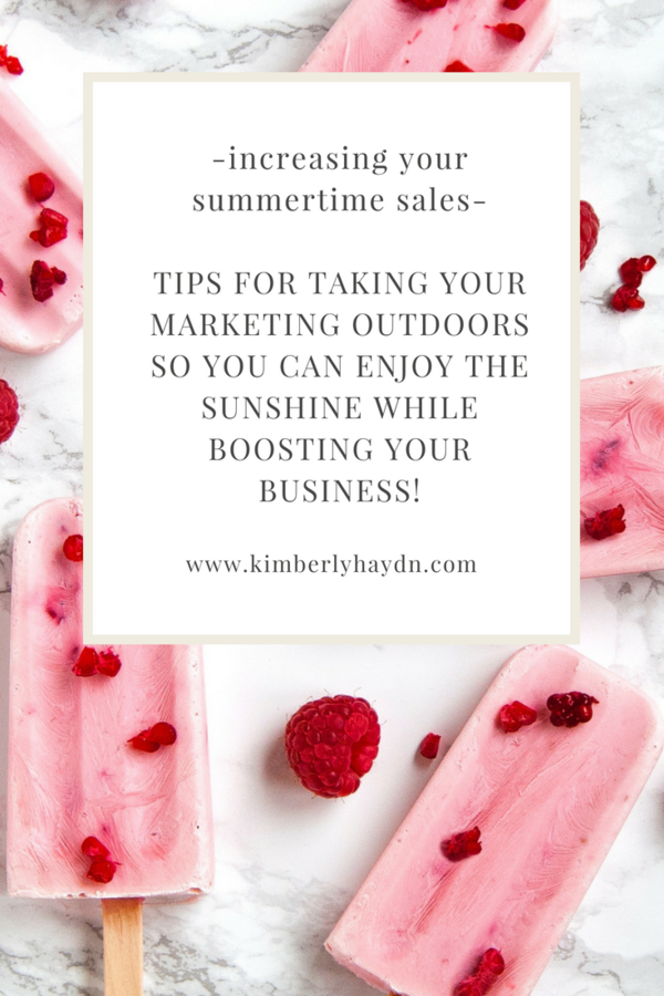 Wondering how you can increase summer sales while your kids are on break? Check out these tips for summer-izing your marketing plan!